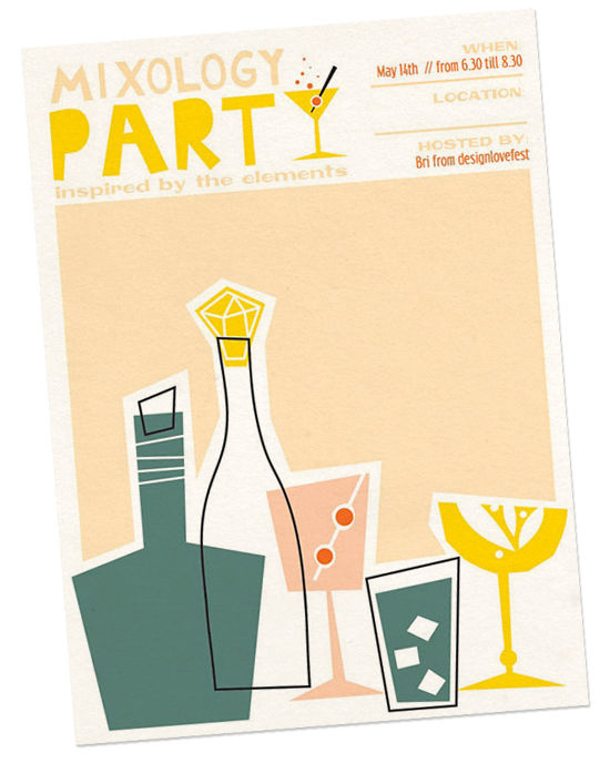 mixology party invite | designlovefest