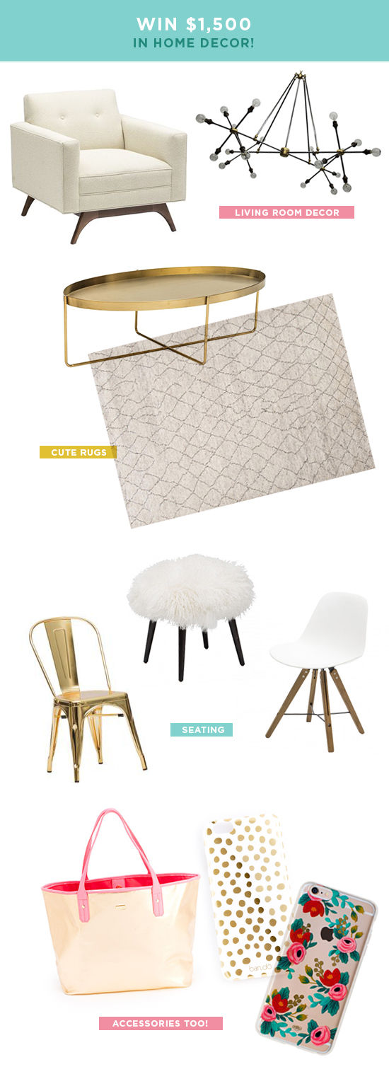 win $1500 in home decor! / designlovefest