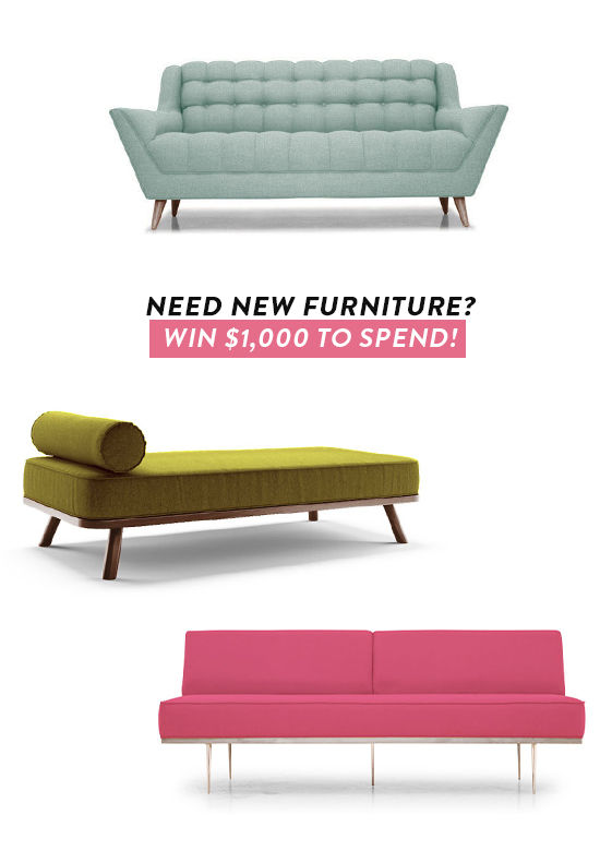 mid century furniture giveaway | designlovefest