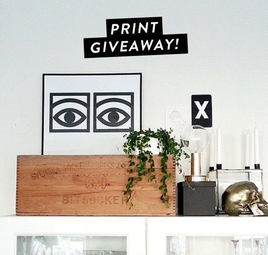 olle eksell print giveaway! | designlovefest