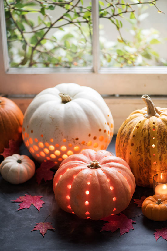 pumpkin lanterns DIY | designlovefest