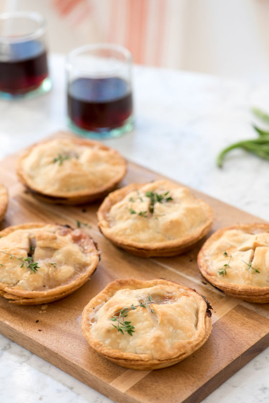 mini chicken pot pies | designlovefest