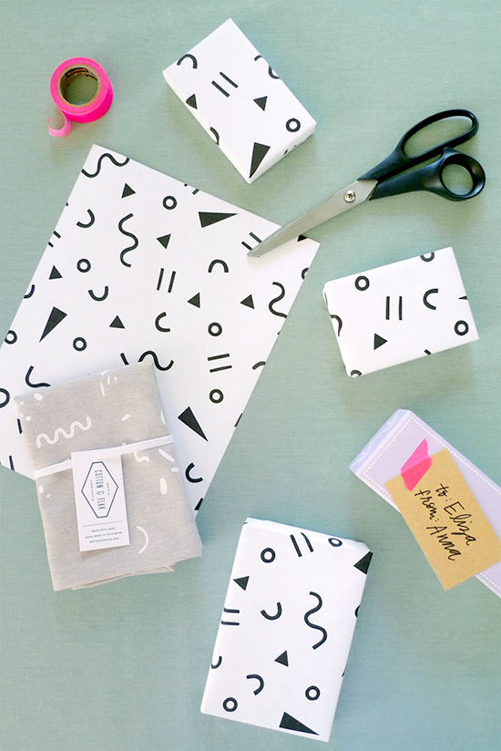 gift wrap printable | designlovefest