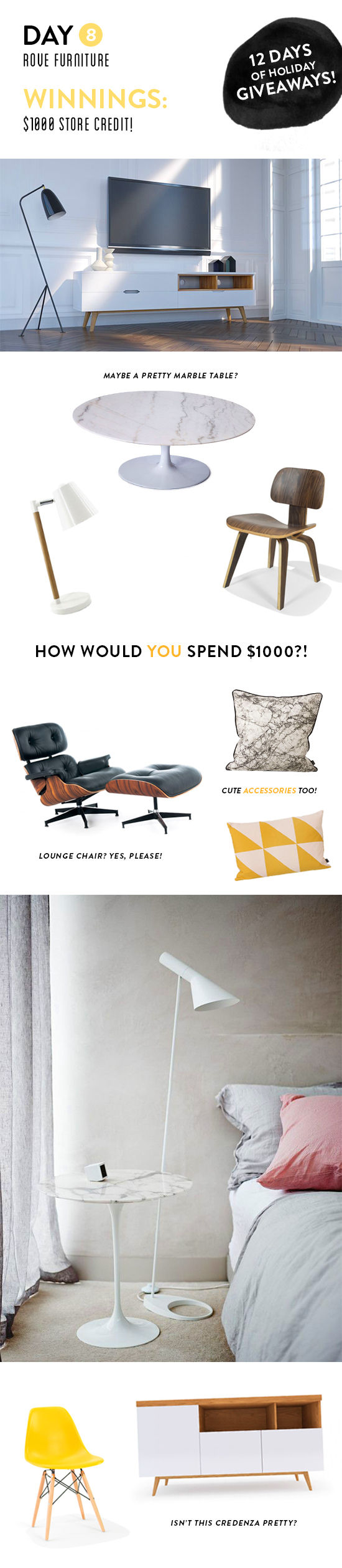 $1000 furniture giveaway! | designlovefest