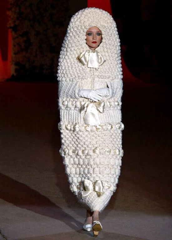 Yves Saint Laurent knitted wedding dress 1965