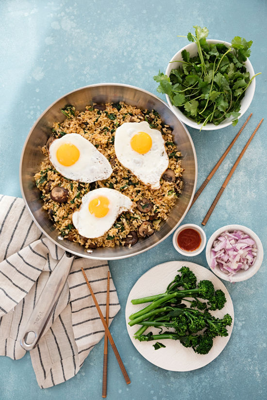 healthy fried rice | designlovefest