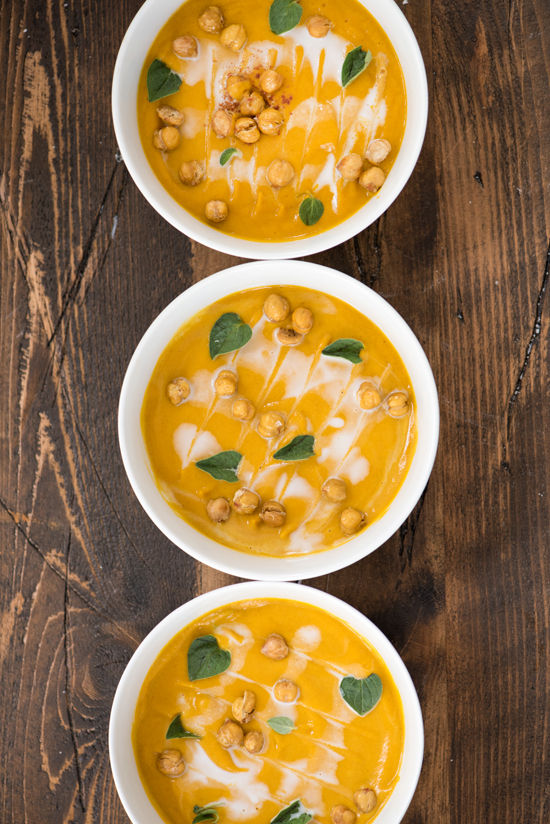 carrot coconut soup | designlovefest