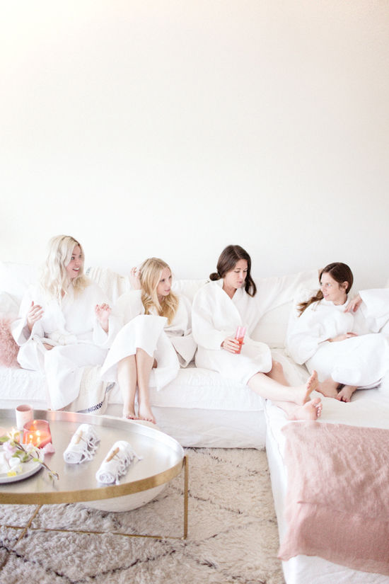 girls spa night | designlovefest