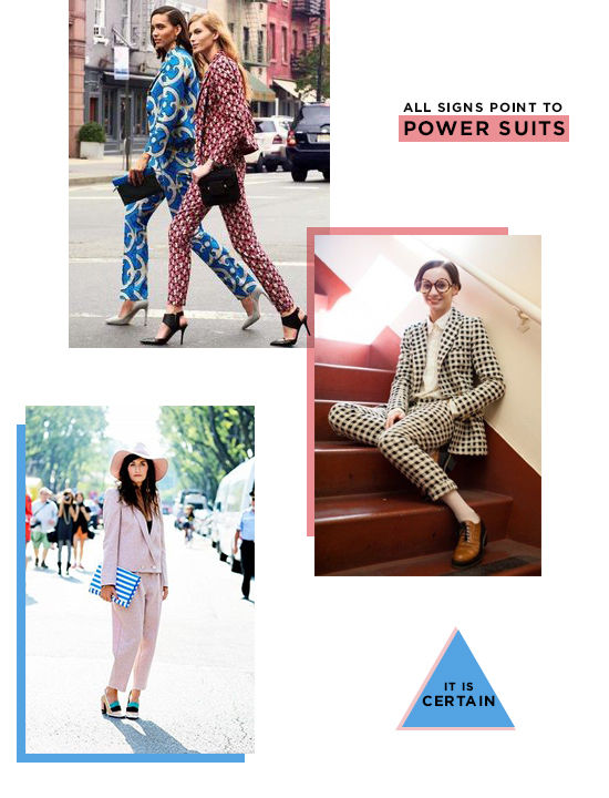 magic 8 ball predicts: power suits | designlovefest