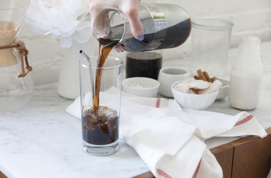 coconut chai iced coffee | designlovefest