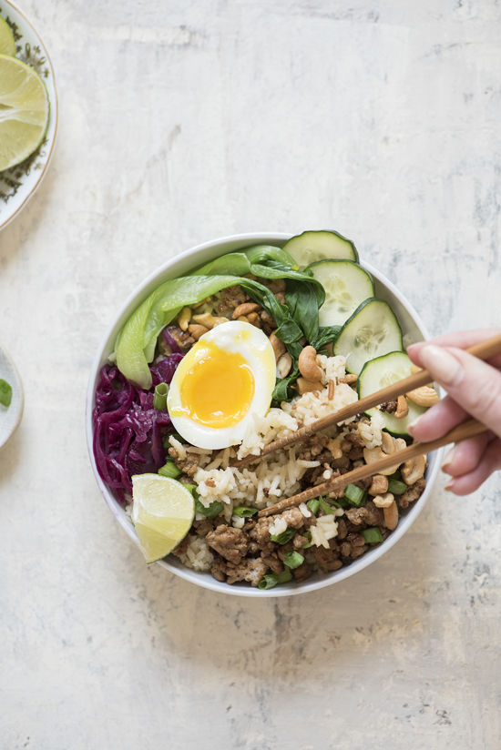 pork rice bowls |designlovefest