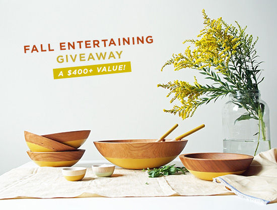fall entertaining giveaway! | designlovefest