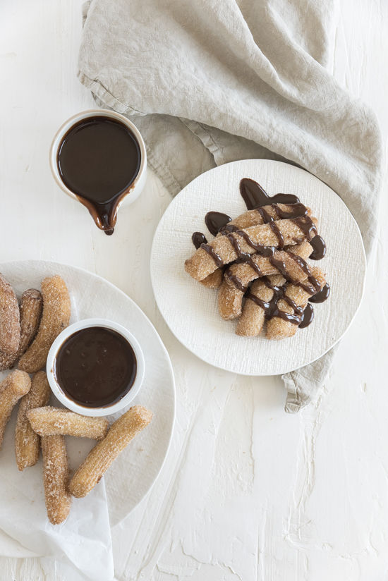 churros with chocolate sauce   designlovefest