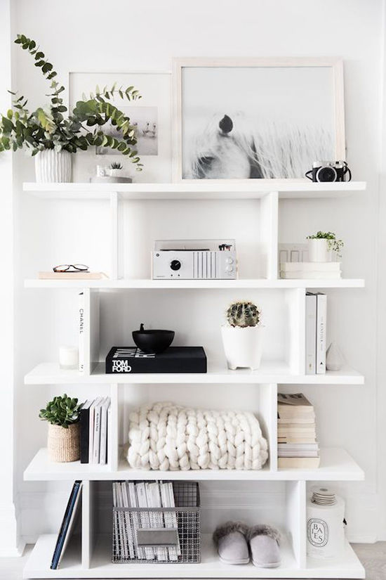 shelf styling ideas | designlovefest