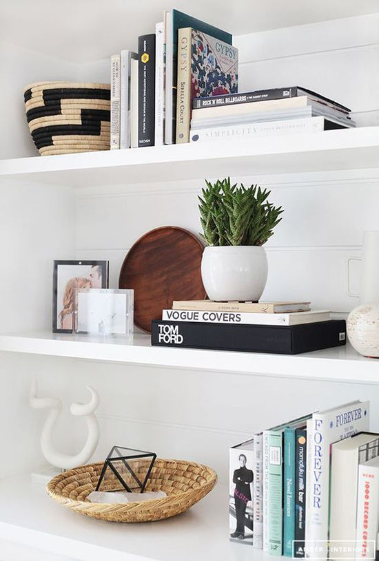 bookshelf styling tips | designlovefest
