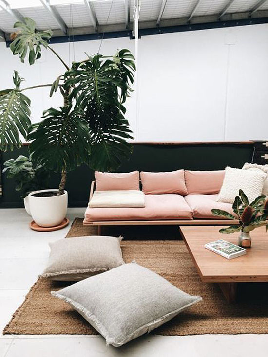 ... Love Blush Pink Planters, But Even Something As Simple As A Pink Accent  Wall Can Really Bring A Living Room Together. Which Is Your Favorite Pink  Look? ... Part 50