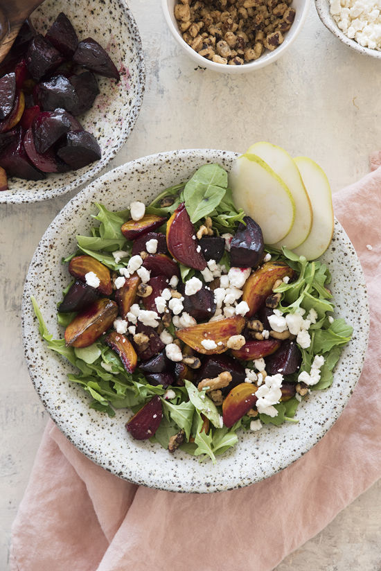 roasted beet salad | designlovefest