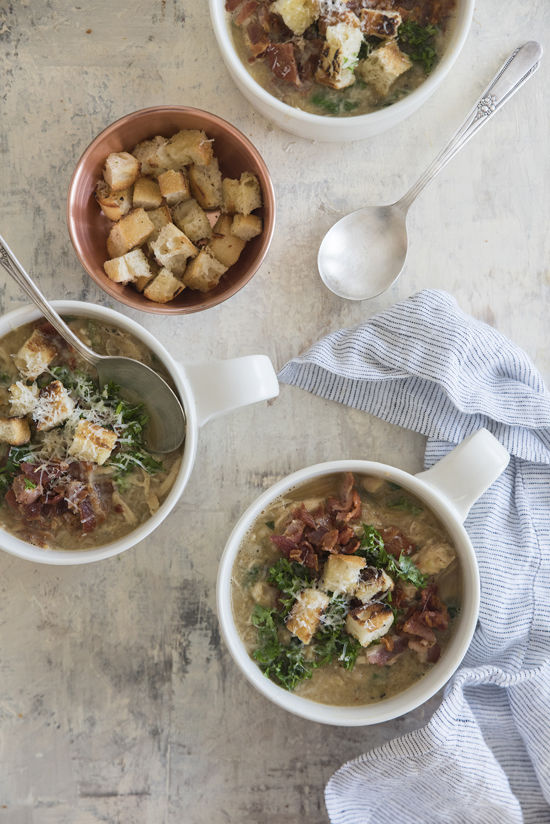 white bean soup with chicken | designlovefest