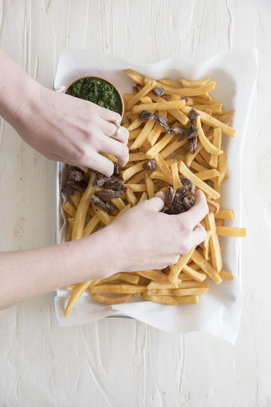 steak fries with chimichurri | designlovefest