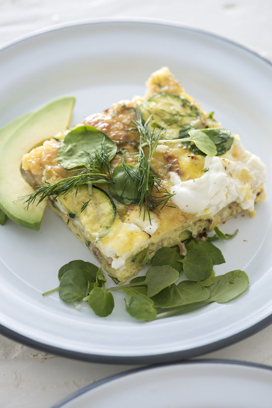 an easy frittata recipe | designlovefest