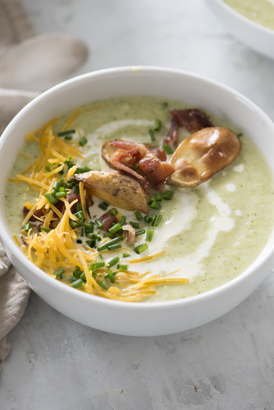 baked potato soup | designlovefest