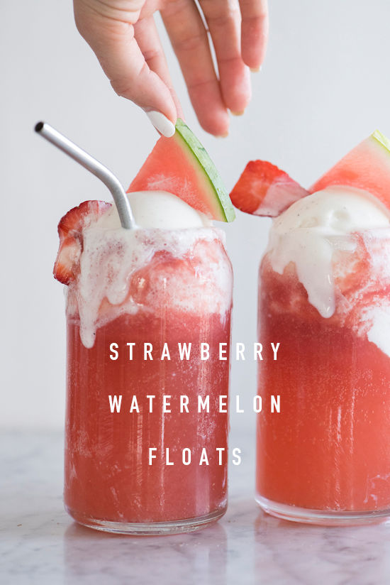 strawberry watermelon floats | designlovefest