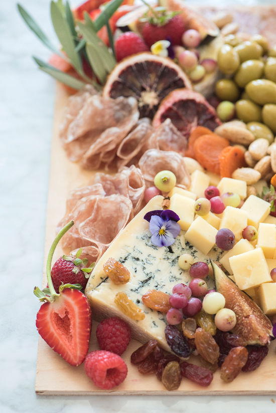 grazing boards with blue diamonds | designlovefest