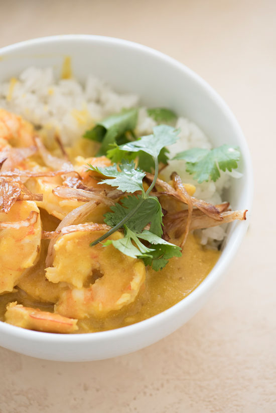 pumpkin shrimp curry | designlovefest